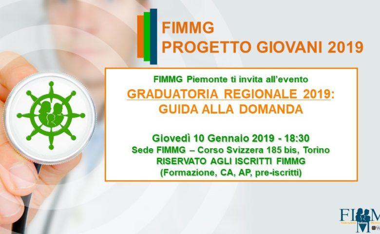 EVENTO: GRADUATORIA REGIONALE 2019: guida all' ISCRIZIONE